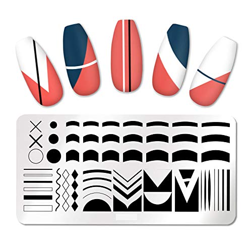 Nail Stamping Plates French Tip Pictures Nail Art Stamping Template Stainless Steel Nail Design Stencil Tools