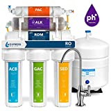 Express Water Reverse Osmosis Alkaline Water Filtration System  10 Stage RO Water Filter with Faucet and Tank  Under Sink Water Filter  with Alkaline Filter for Added Essential Minerals  50 GPD