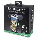 Carson HookUpz 2.0 Universal Smartphone Optics Digiscoping Adapter for Binoculars, Spotting Scopes, Telescopes, Microscopes, Monoculars and More (IS-200), Black