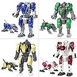 Sanggi 4 en 1 Robot Transformable, [ Lot de 4 ] Robot en Alliage Transformers...