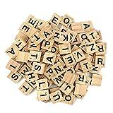 Lot de 100 lettres de l'alphabet en bois pour jeux de société, cadre de...