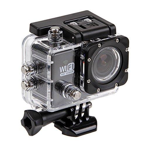 Kingwon Custodia Impermeabile Protettiva per Action Camera SJ 6000/Campark ACT76/Akaso Brave 4 Fotocamera e altre macchine fotografiche sportive, Trasparente