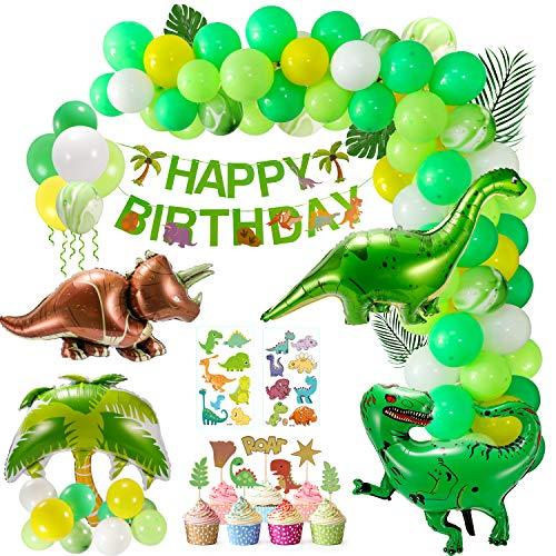 Cumpleaños Decoracion, 111 Piezas Fiesta de Dinosaurio Glob