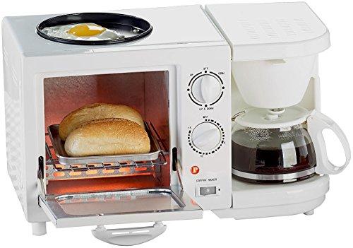 Rosenstein & Söhne Miniküche: Kompakter 3in1-Frühstücksofen, 1.150 Watt (Frühstückcenter)