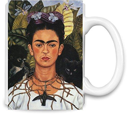 Self Portrait With Necklace Frida Kahlo Painting Taza para café