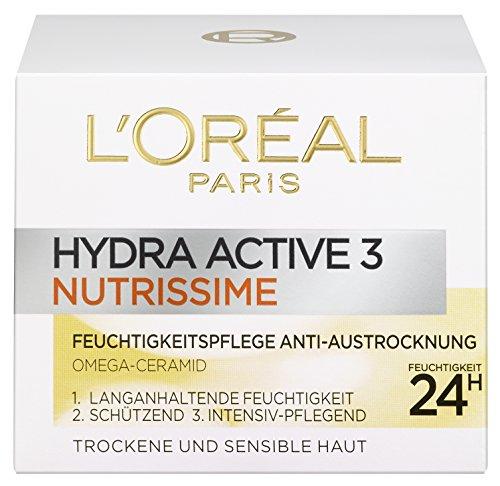 L\'Oréal Paris Hydra Active 3 Nutrissime Gesichtscreme für sehr trockene Haut, intensive Pflege, 50 ml