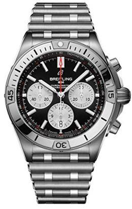Breitling Chronomat B01 Black Dial Mens Watch AB0134101B1A1