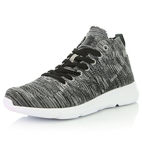 DailyShoes Women's Sneakers Running Shoes Walking Cross Training Perforated Lightweight Fashion Tennis Breathable Gym Workout Sports Grey,mesh,8.5