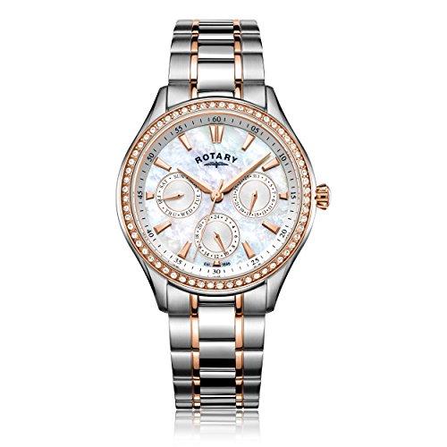 Rotary Damen Uhr Analog Quarz Mit Edelstahl LB05057/41