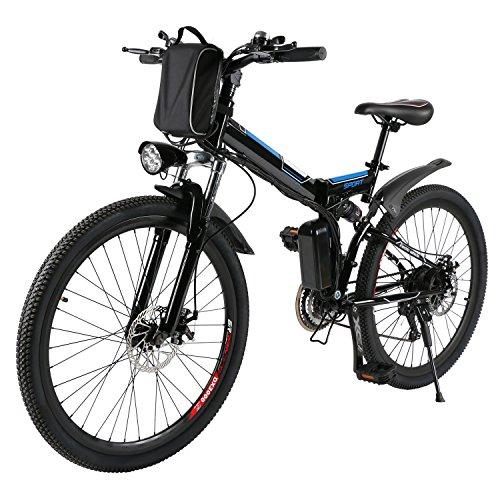 AMDirect Bicicleta de Montaa Elctrica Bici Plegable Ebike con Rueda de...