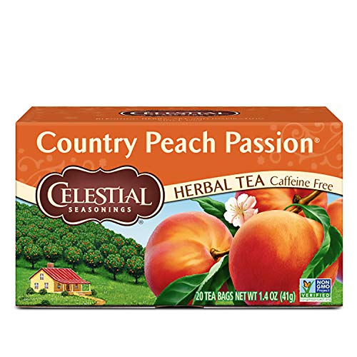 Celestial Seasonings Herbal Tea, Country Peach Passion, 20 Count (Pack of 6)