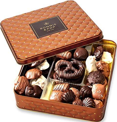 Chocolate Gift Basket , Gourmet Snack Food Box in Keepsake...