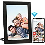 AEEZO WiFi Digital Picture Frame, IPS Touch Screen Smart Cloud Photo Frame with 16GB Storage, Easy Setup to Share Photos or Videos via Free Frameo APP, Auto-Rotate, Wall Mountable (9 inch Black)