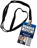 Michael Scott Dunder Mifflin Inc. Novelty ID Badge Prop Costume