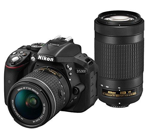 Nikon デジタル一眼レフカメラ D5300 AF-P ダブルズームキット ブラック D5300WZ3