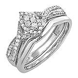Dazzlingrock Collection 0.33 Carat (ctw) Round White Diamond Marquise Shape Bridal Engagement Ring...