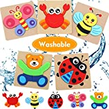 Toddler Toys for 1-2 Year Old Girls Boys Gifts, Washable Non-Wooden Toddler Puzzles, Animal Jigsaw Puzzles Educational Toys for Age 2-3 (5 Pack)