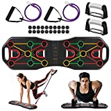 AIMTOP Push Up Musculation, 9 en 1 Push Up Board Multifonctionnelle Pliable...