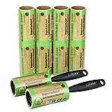 Schramm® 10 Pieces of lint Roll 10 Rolls a 60 Sheets of lint Roll Black Plastic Dispenser Incl....