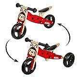 Woomax Tricycle 2 en 1 sans pédales bébé 1 an Bois 59 x 34 x 38 cm