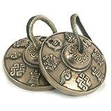 Tibétaine Tingsha cymbales de méditation Feng Shui / Chimes - Mantra Design - 6. 5 cm...
