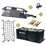 Mockins Steel Cargo Basket | 60' L X 20' W X 6' H Hitch Mount Cargo Carrier with Cargo Bag and Net |...