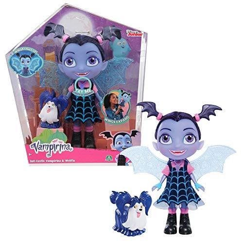 Vampirina - Bat-Muñeca de 24 cm con alas Luminosas, Efectos