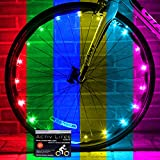 Activ Life Bicycle Spoke Lights (2 Tires, Color-Changing) Top Fun Accessory for Cool Beach Cruisers, Mountain, BMX Trick, Road, Recumbent, Commuting, Tandem, Kids & Folding Bike Best Wheel Lights