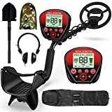 EOREVGM Metal Detectors for Adults Professional ,Waterproof Metal Detector, High Accuracy Adjustable with Pinpoint & Disc & All Metal Mode,with Metal Detecting Shovel,Headphone,Carrying Bag