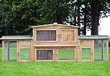 Zooprimus abris cages pour petits animaux grande cage clapier extérieur en bois...