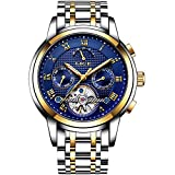 ♕ Movement: Mechanical Hand Wind,Automatic Self-Wind;Work by the movement of your wrist when you wear it;Without a battery★★★【ATTENTION:Some unlawful retailers sell low-grade products at the lowest rate,or do not deliver your parcel at all.Before add...