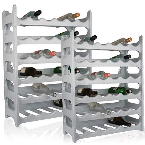 ARTECSIS Cantinetta Portabottiglie in Plastica Modulare 72 Bottiglie Bianco