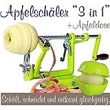 Made for us Éplucheur à pommes professionnel en aluminium avec vide-pomme et...