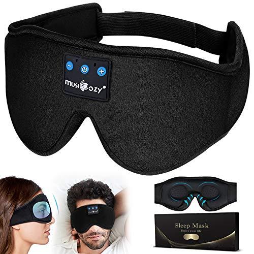 Masque de Sommeil,Écouteurs Bluetooth Casque de Sommeil Masque de Nuit...