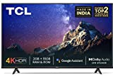 TCL 108 cm (43 inches) 4K Ultra HD Certified Android Smart LED TV 43P615 (Black) (2020 Model)   With Dolby Audio