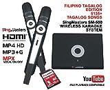 SingMasters Magic Sing FILIPINO Karaoke Player,5135 Philippines Filipino Tagalog Pinoy Song,12985 English songs Dual wireless Microphones,YouTube Compatible,HDMI,Song recording,TAGALOG Karaoke Machine
