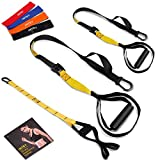 INTEY Bodyweight Fitness Resistance Training, Resistance Trainer Straps+Door Anchor+4 Resistance Bands Loops, Trainer kit for Full-Body Workout at Home Gym and Outdoors