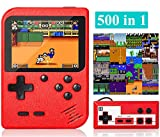 Handheld Game Console, Retro Mini Game Player with 500 Classic FC Games, 3.0 Inch Screen 800mAh Rechargeable Battery Portable Game Console Support TV Connection & Two Players for Kids Adults