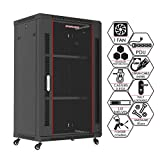 Sysracks 18U 24 Inch Deep Wall Mount It Server Rack Cabinet Enclosure - Accessories Included
