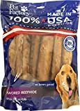 Pet Factory 78264 Beefhide   Dog Chews, 99% Digestive, Rawhides to Keep Dogs Busy, 100% Natural, Peanut Butter Flavored Retriever Rolls, Pack of 10 in 8' Size, Made in USA