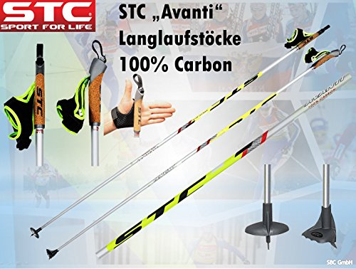 STC 100{1c5696075a00b72aea78f3766e2400401c1a85c6ed9476cf46a4176d7f23d5bc} Carbon Skating Langlauf Stöcke Avanti, Langlaufstock (155 cm)