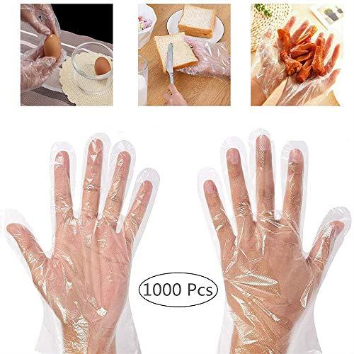 Dorall - Guanti da cucina in plastica, trasparenti, per cucinare in casa, barbecue, per la...