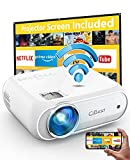 Mini Projector, CiBest 7000L Movie Projector with Wireless Display Function, 1080p for FHD Home Theater, Compatible with iPhone, Android, TV Stick, Games Console, Comes with Projector Screen