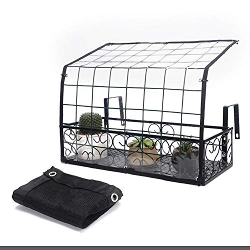 Serres Balcon Tomate Serre Serre, Support Mural Portable pour Plantes avec Verre Doux et Couvercle de Filet D'ombrage, pour Jardin Flowerpot Plant Growing (Size : 60×24×30cm)