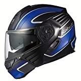 オージーケーカブト(OGK KABUTO)バイクヘルメット システム KAZAMI XCEVA(エクセヴァ) フラットブラックブルー (サイズ:M) 571740