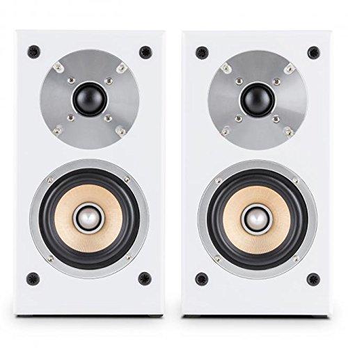 AUNA Linie 501 BS coppia di diffusori da scaffale altoparlanti passivi (tecnologia a 2 vie, midrange...