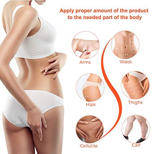 Anti Cellulite Cream, Slimming Cream for Tummy, Abdomen, Belly and Waist - Firming Cream - Hot Cream for Weight Loss, Body Fat Burning Massage Gel - 100g 5