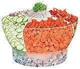 Perlli Salad Bowl Set On Ice -...