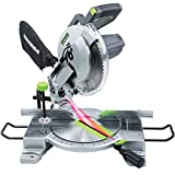 Genesis GMS1015LC 15-Amp 10-Inch Compound Miter Saw with Laser Guide and 9 Positive Miter...