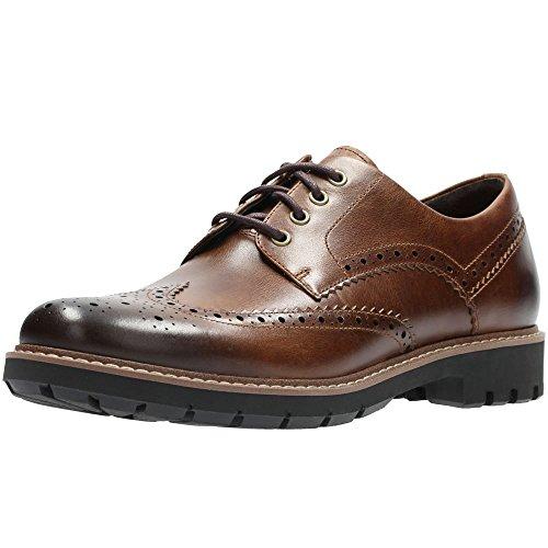 Clarks Batcombe Wing, Zapatos de Cordones Derby, Marrón (Dark Tan Lea-), 42.5 EU